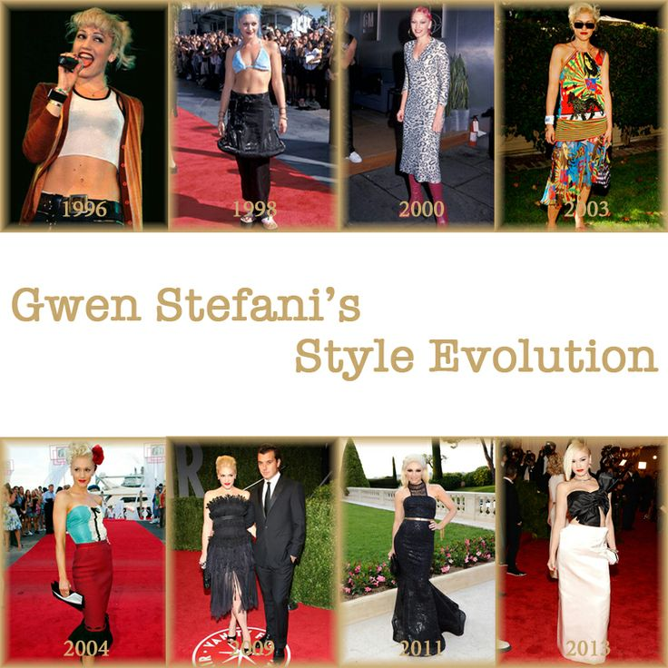 Gwen Stefani's Style Evolution since her debut with No Doubt