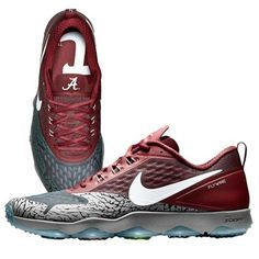 Men's Alabama Crimson Tide Nike Crimson/Gray 2015 College Football Playoff Sugar Bowl Hypercross Air Zoom Trainer