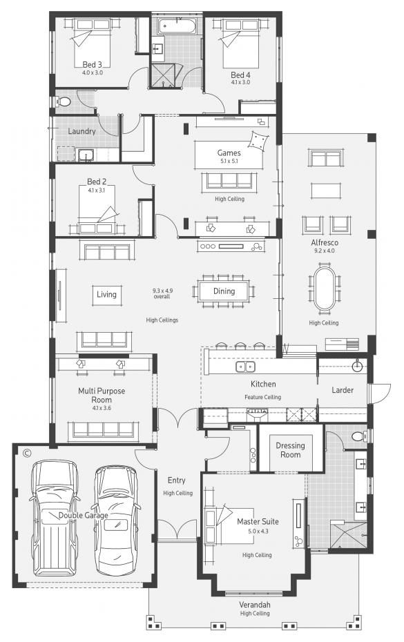 Stoneleigh Display Home - Lifestyle Floor Plan