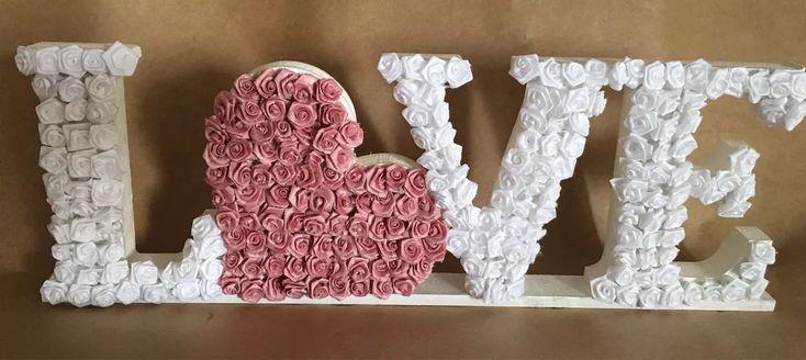 love em flores letras decorativas completa em mdf lembrança