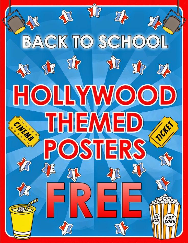 Classroom Poster Ideas ~ Ideas about hollywood theme classroom on pinterest