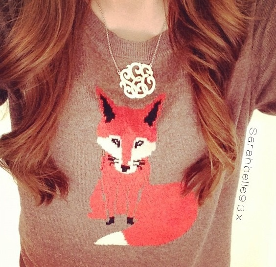 Monogram and fox sweater.