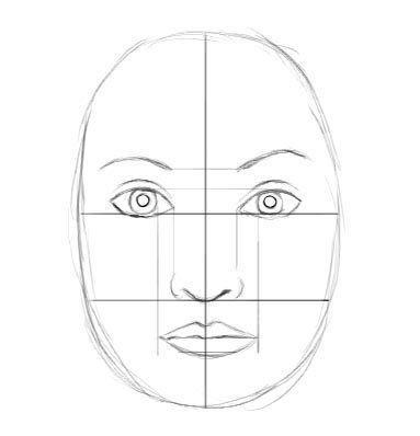 Gesicht zeichnen lernen - Proportion und Tutorial-dekoking-com-7