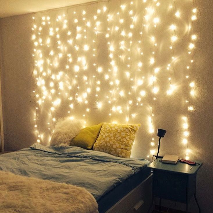 Curtain Led Lights Fairy Lights Decor Bedroom Bedroom Lighting Wall Decor Bedroom