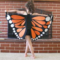 make your own butterfly wings - or fairy wings or dragon wings or bat wings... the potential is BIG