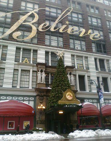 Macy's at Christmas! & we saw Santa inside :)