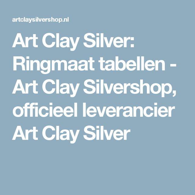 Art Clay Silver: Ringmaat tabellen - Art Clay Silvershop, officieel leverancier Art Clay Silver