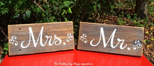 Rustic Wedding Sign STAND ALONE Reclaimed Wood Mr Mrs