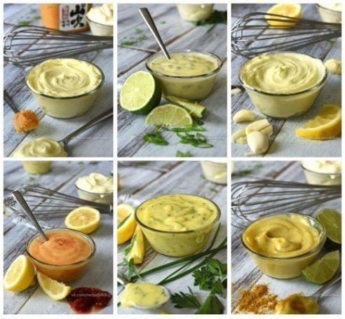 Есть очень много рецептов разных соусов вкусных и более полезных чем майонез, вот 1 из них 🔸на 100грамм - 185 ккал🔸Б/Ж/У - 3.32/16.69/5.46🔸 Ингредиенты: 3 ст ложки оливкового масла 1 ст ложка...