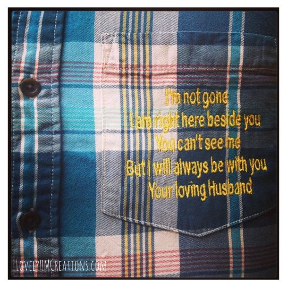 41 best memory pillows images on Pinterest   Dress shirts, DIY and ... : memorial quilt poems - Adamdwight.com