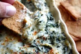 Crown Recipes: Cheesy Spinach and Artichoke Dip Recipe