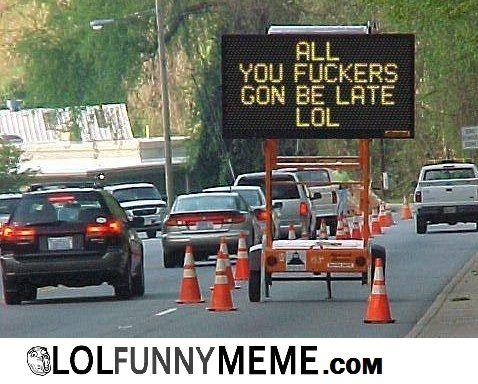 honest traffic sign