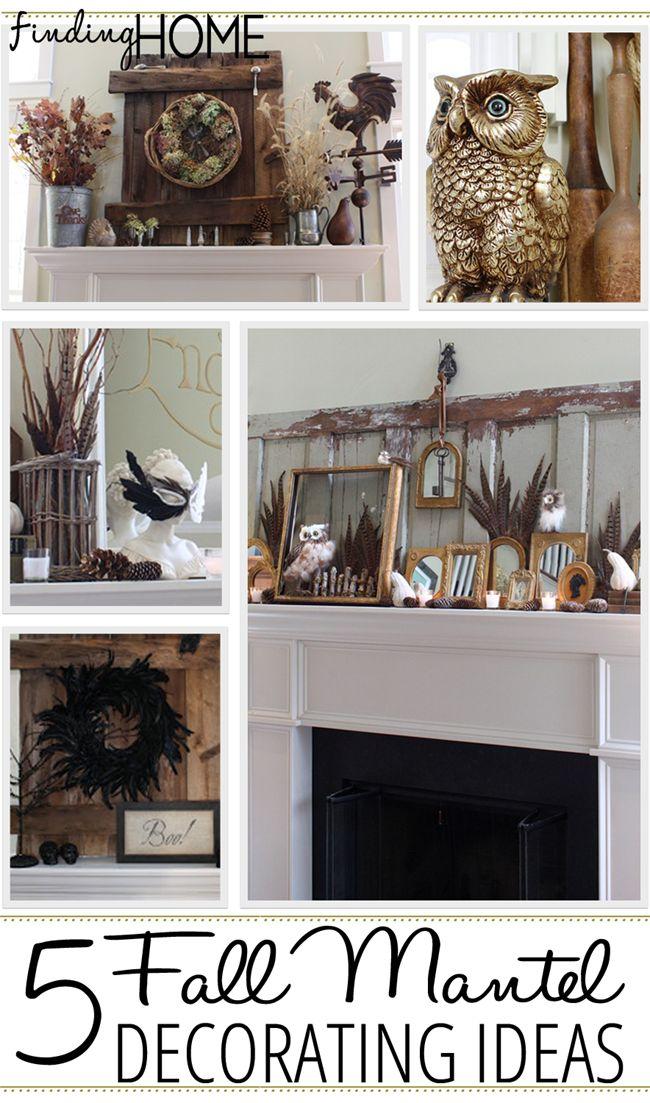 5 Fall Mantel Decorating ideas via Finding Home