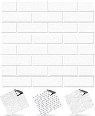 30 Pattern 7 - Self Adhesive Mosaic Wall Tile Decals For 150mm (6 inch) Square Tiles -(TP25)- Very Realistic Looking Stick On Wall Tiles Transfers From Tile Style Decals -- Peel and stick on tiles to completely transform your kitchen, bathroom or wherever you have tiles - DURABLE: Oil-proof, Waterproof, Heat Resistant and Bleach Resistant (Pack of 30, Pattern 7)