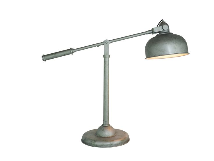Pharmacy Table Lamp Antique Silver