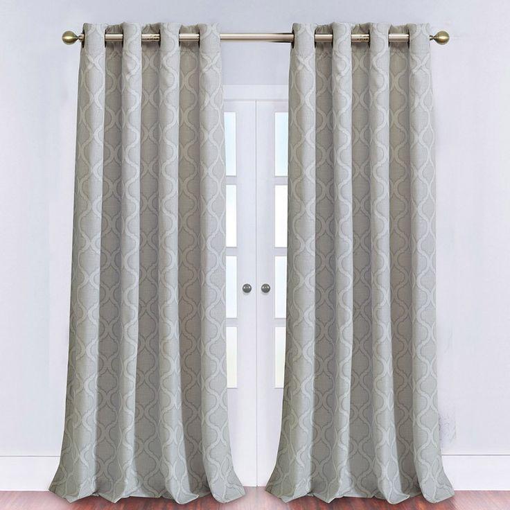 CARMEL Large Curtain Panel (Grey)