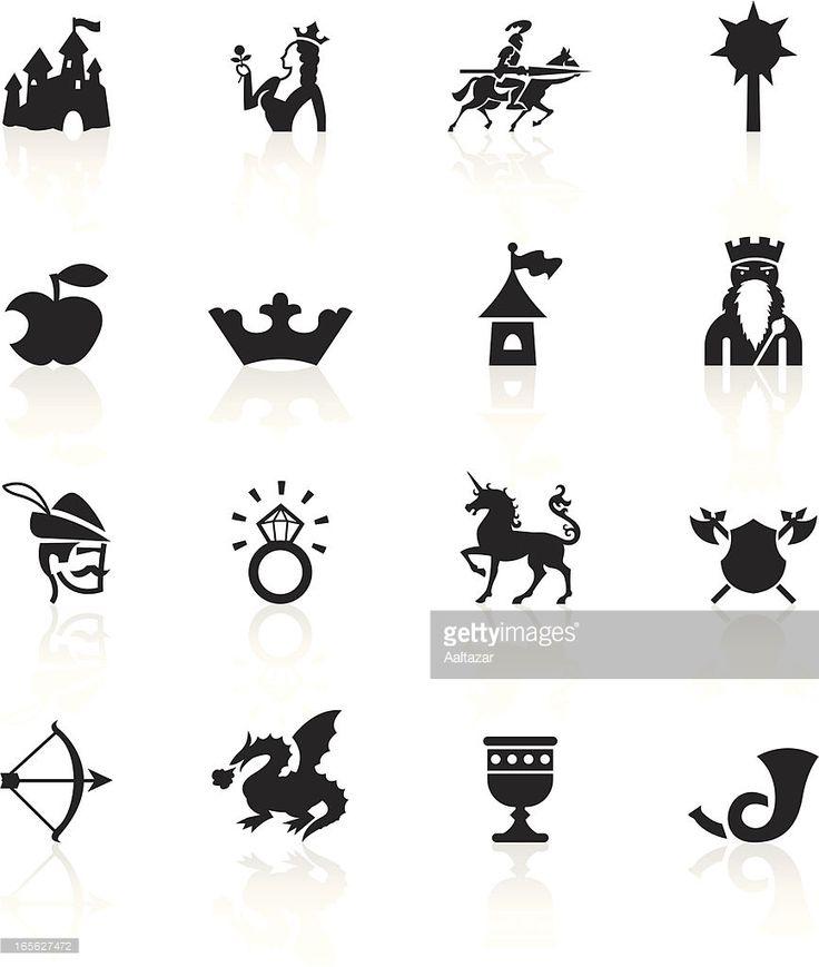Vector Art : Black Symbols - Medieval Fairytale