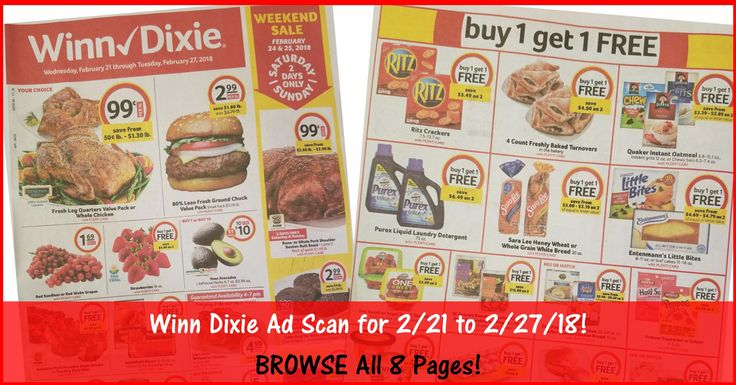 ***SUPER EARLY WINN DIXIE AD PREVIEW FOR 2/21 TO 2/27/18*** Who is ready to start working on their Winn Dixie Shopping List for 2/21? BROWSE all 8 Pages of the Actual Winn Dixie Ad Scan for 2/21 to 2/27/18 ► http://www.thecouponingcouple.com/winn-dixie-weekly-ad-scan-2-21-18/  #Coupons #Couponing #CouponCommunity  Visit us at http://www.thecouponingcouple.com for more great posts!