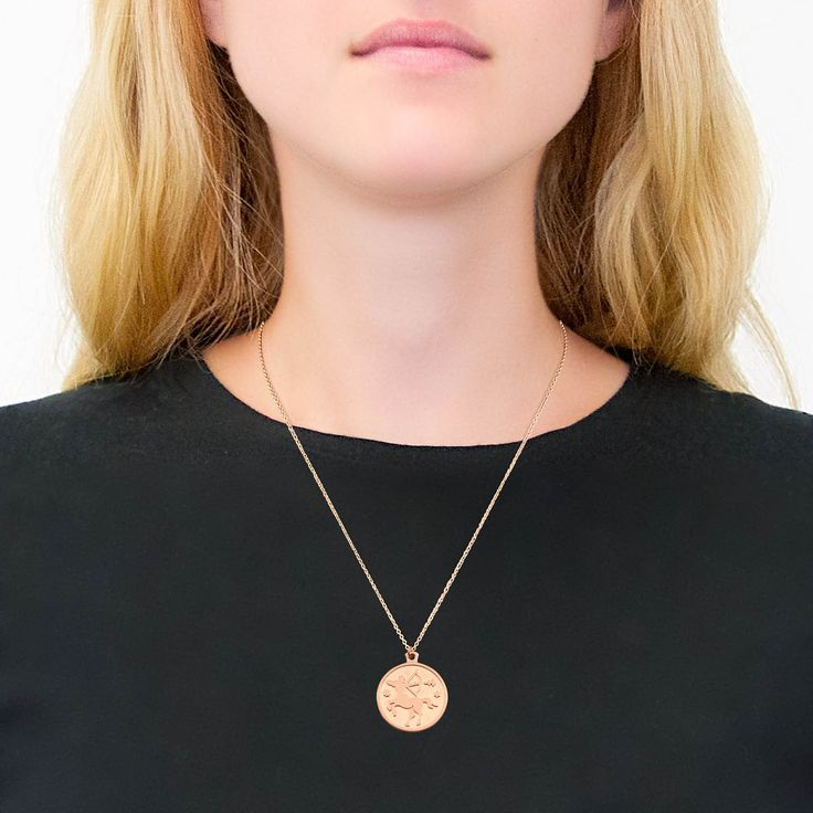 BOUGHT Rose Gold Sagittarius Necklace by Anna Saccone - Stilnest