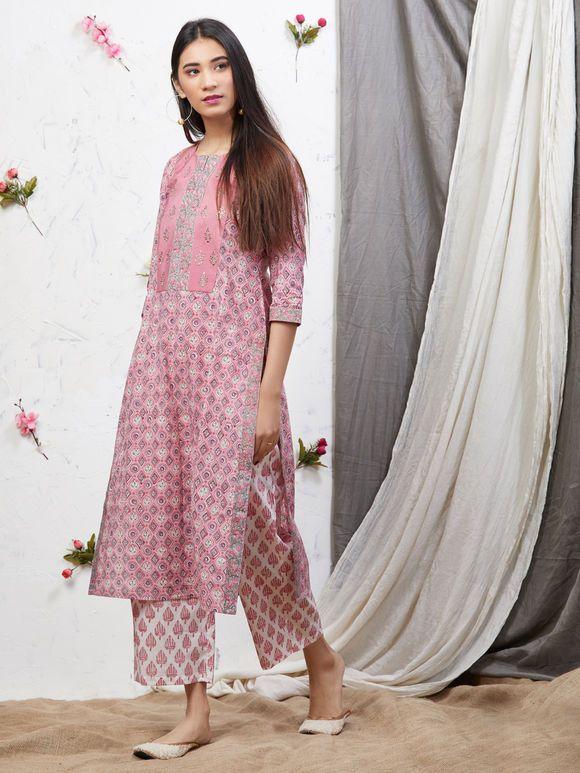 Ks83 Details about  /Indian Bollywood Designer cotton Kurta with Plazzo /& Dupatta Tunic
