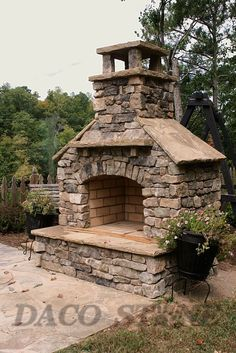 Outdoor fireplace kit 36""