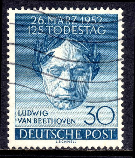 Musicians and Composers on stamps: Ludwig Van Beethoven (1770  –  1827) - Deutsche Post, Berlin 1952