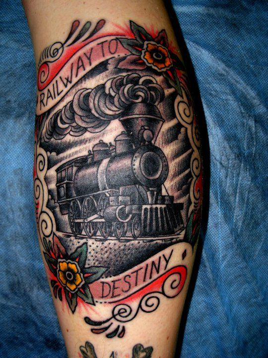 1000 images about train tattoos on pinterest traditional posts and colors. Black Bedroom Furniture Sets. Home Design Ideas
