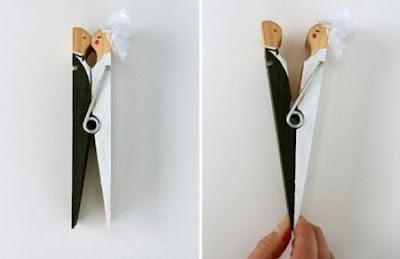 Regalos para los invitados a tu boda hechos con pinzas de madera