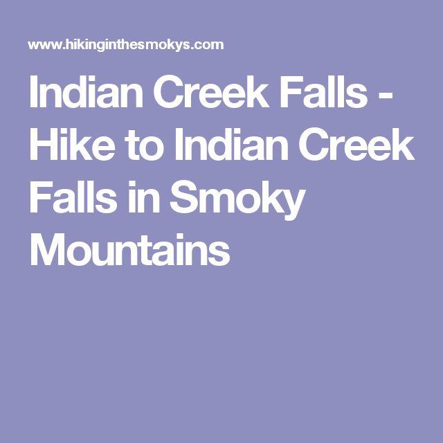 Indian Creek Falls - Hike to Indian Creek Falls in Smoky Mountains