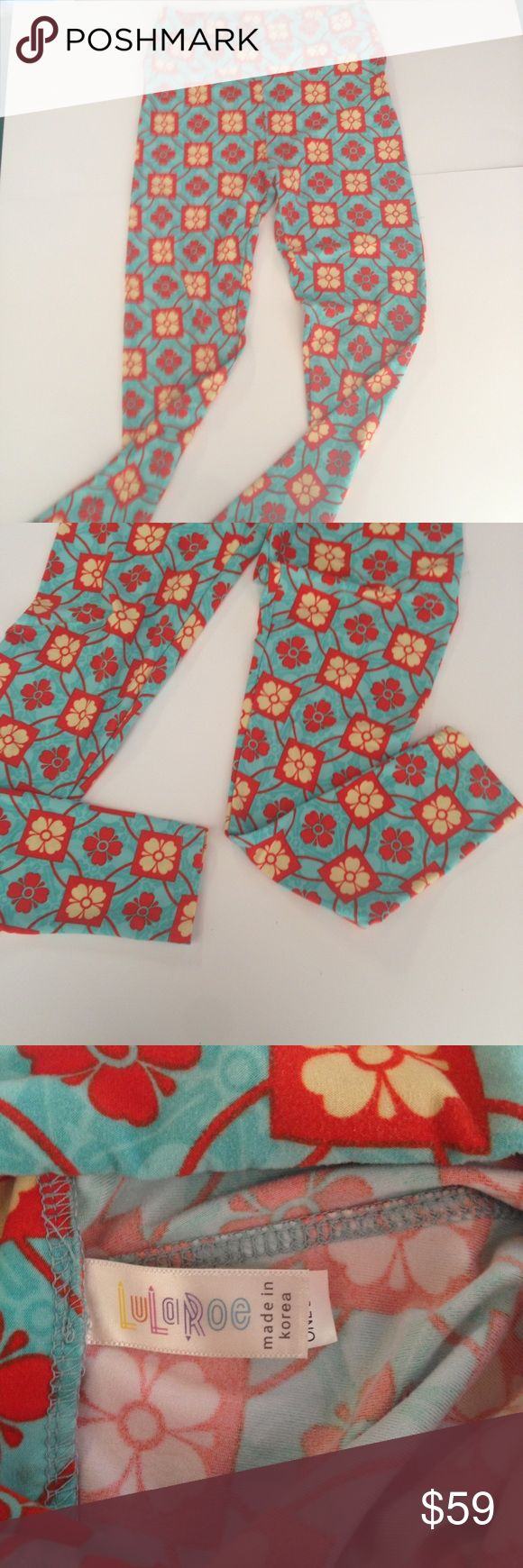 """LuLaRoe Signature One Size Leggings Now only 59.00 SALE SALE SALE SALE! Compair at 120.00 Now only 59.00 You save 61.00 Now 50% Off LuLaRoe Signature One Size Leggings. Very nice signature leggings. These leggings are made of a very soft stretchy material and fit sizes 2/4 to 10/12. So versatile! Make many outfits with this! Color: Teal, orange and beige One size (2/4 to 10/12) Material(s): 92% Polyester, 8% Spandex Women's Rise 12"""" Inseam 23"""" CONDITION: Pre owned gently used condition…"""