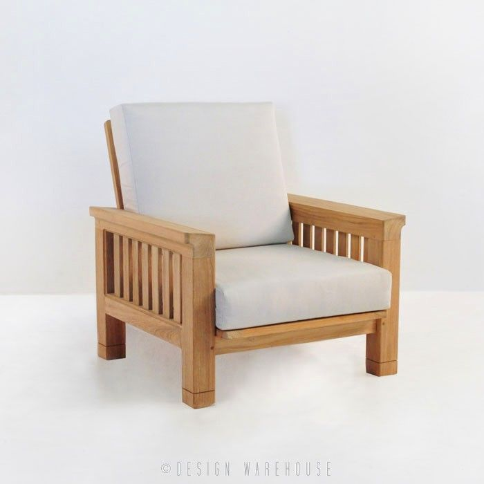 Raffles Teak Club Chair | Design Warehouse