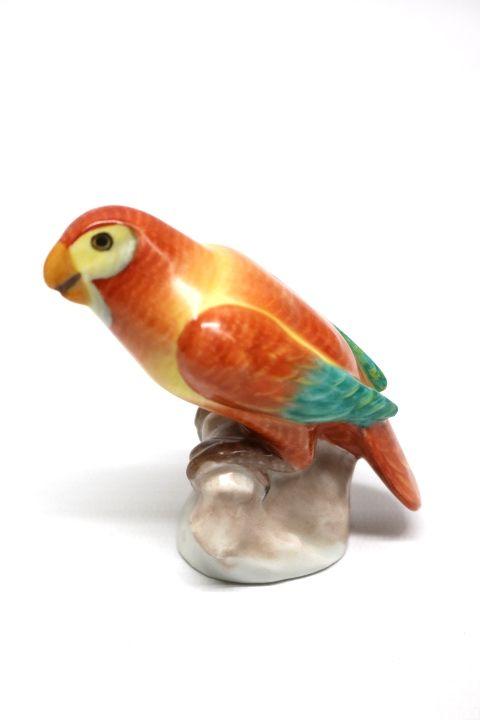 Schöner Porzellan Papagei der Marke Herend Porzellan Ungarn