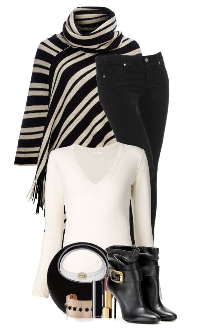 Black & White lll by flowerchild805 on Polyvore featuring polyvore, fashion, style, Chloé, Wallis, Paige Denim, Burberry, Irene Neuwirth, Chanel and clothing