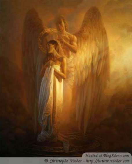 "Archangel Uriel, his name means ""God is light""."
