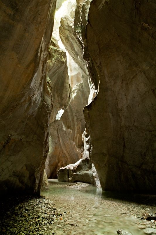 #Canyoning in #Sauris.  Gorge along the Lumiei river
