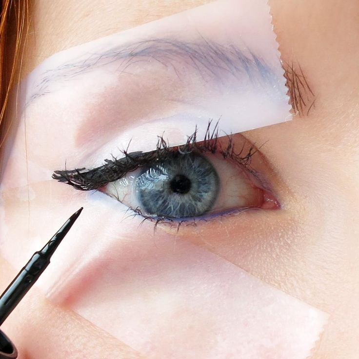 Scotch Tape Eyeliner Stencils: http://intothegloss.com/2014/04/how-to-apply-eyeliner/
