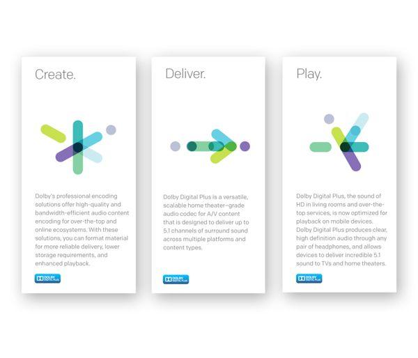 DOLBY   Sub-brand Identities & Look-and-Feel by Alejanski & Co., via Behance