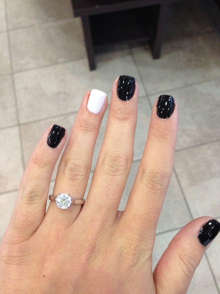 black shellac nails ideas