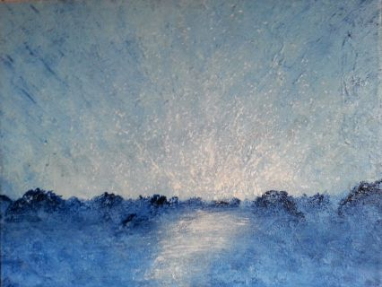 """Vinterhav"" Akryl på lerret - 30 x 40 cm"