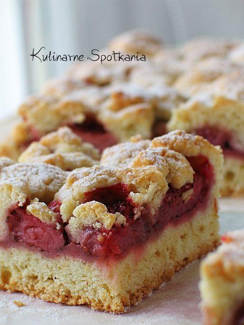 Kulinarne Spotkania: Kruche ciasto z truskawkami