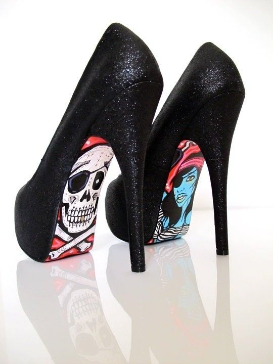 shoes: Shoes, Skull, Fashion, Style, Clothes, Taylor, High Heels, Pirate