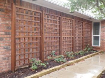 Rectangular Garden Trellis Panel | Outdoor Wooden Screen | Privacy .