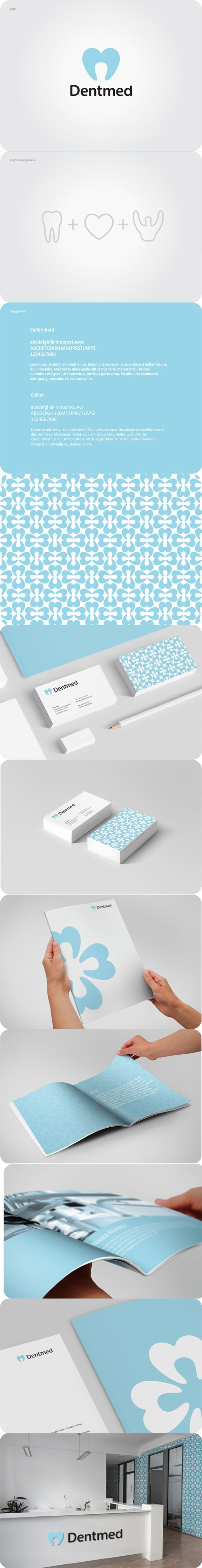 Dentmed | #stationary #corporate #design #corporatedesign #logo #identity #branding #marketing <<< found on www.behance.net pinned by an #advertising agency from #Hamburg / #Germany - www.BlickeDeeler.de | Follow us on www.facebook.com/BlickeDeeler