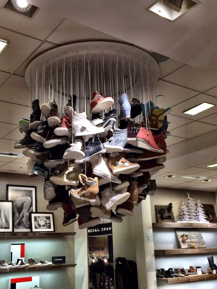 """""""The Shoe Chandelier!"""",every home should have one, pinned by Ton van der Veer"""
