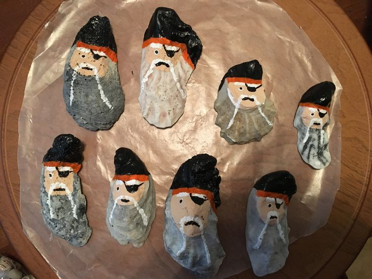 Pirate ornaments for Christmas or any holiday event. Perfect for the Treasure Coast (central Florida's east coast). So fun!