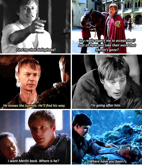 Arthur always needs Merlin by his side