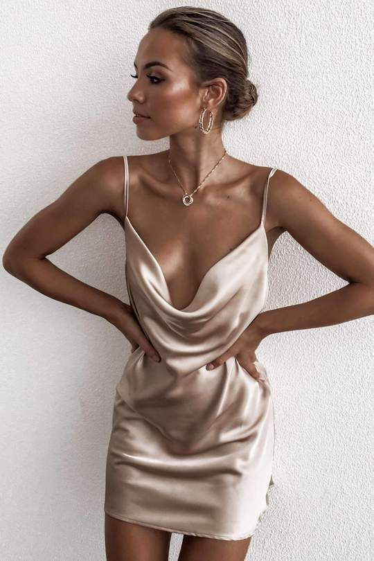 7bd740edec95 Going Out Tonight In Our Wear Me Down Dress In Champagne. Buy Now With  AfterPay.