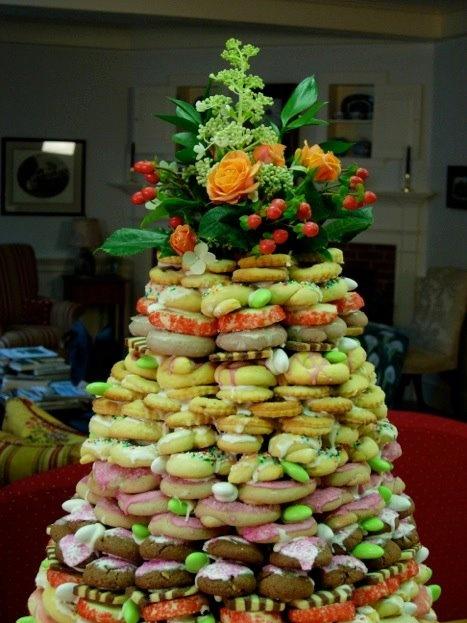 Italian Cookie Wedding Cake!  Very Impressive!