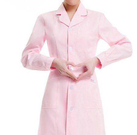 Medical science lab coats for women physician chemistry jackets white blue pink green long