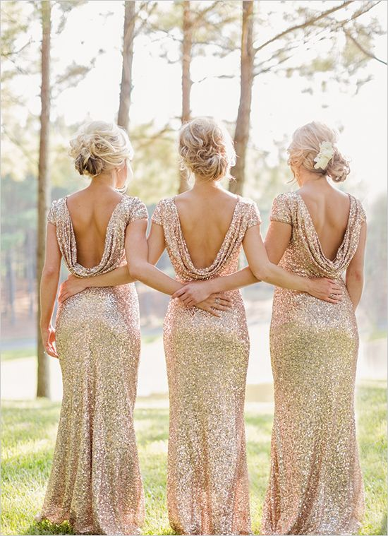 gold sequined dresses